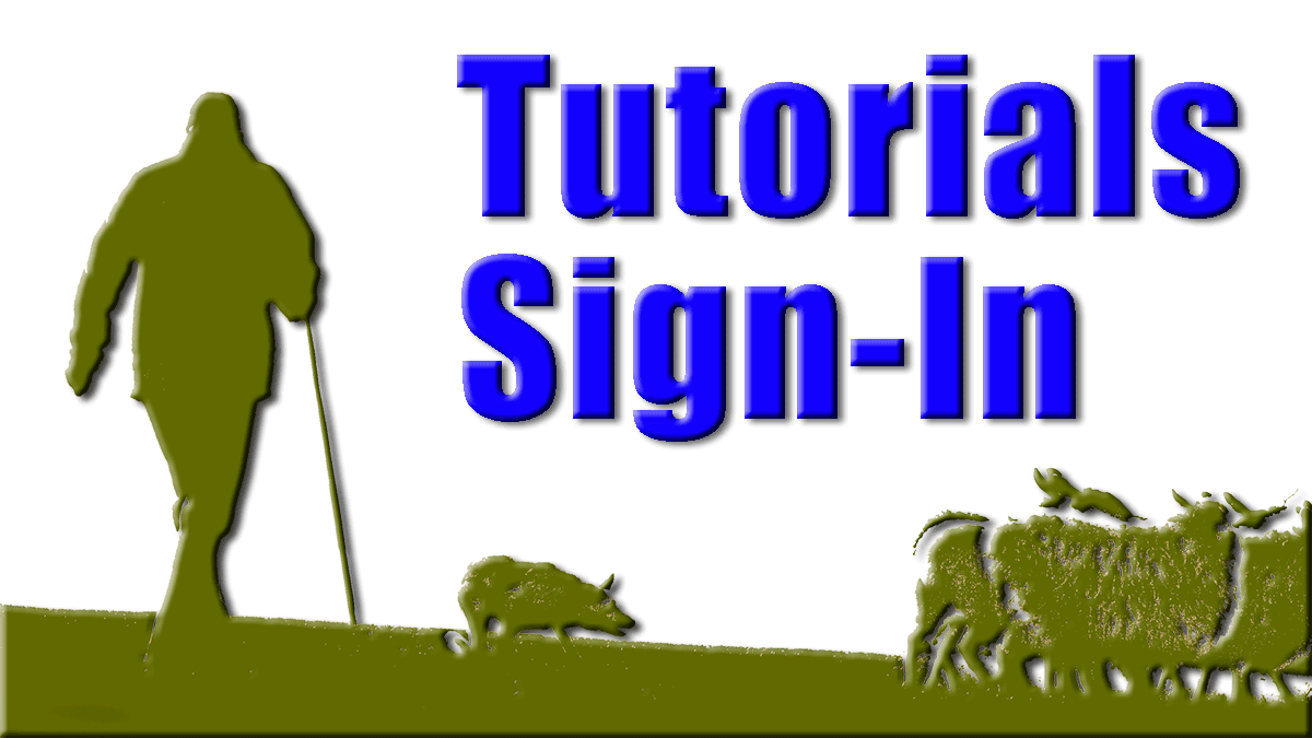 Members sign-in button for sheepdog training tutorials