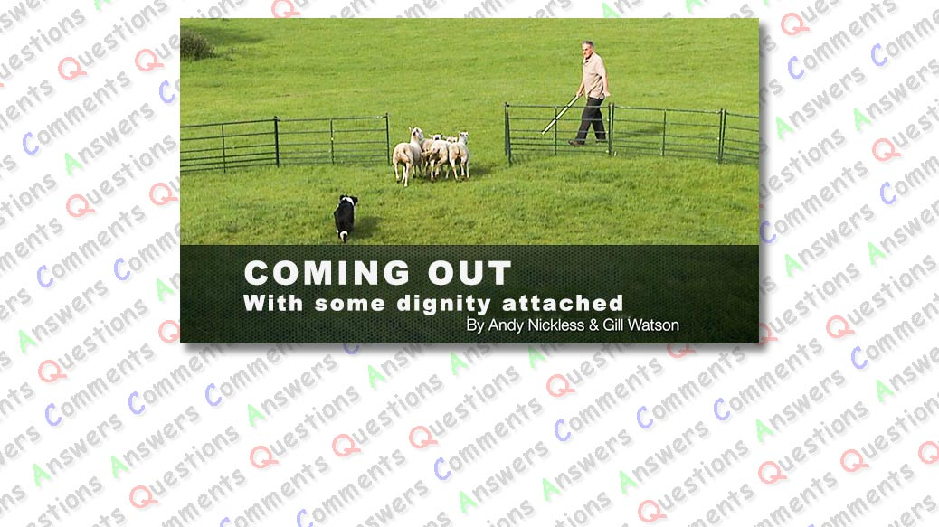 Header image for our Coming Out sheepdog training tutorial comments page